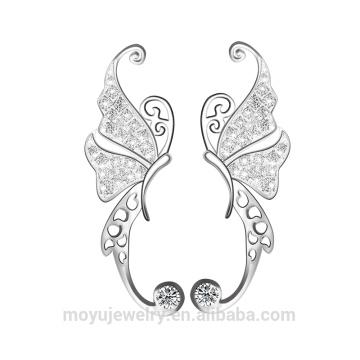 Sterling silver Dancing butterfly clip on earrings