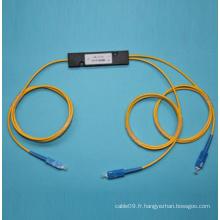 1 * 2 Monophasé Fibre Optique Coulper Fbt avec connecteur SC / PC