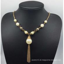 Bunte Perlen Pullover Halskette (XJW13758)