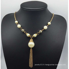 Collier coloré de chandail de perle (XJW13758)