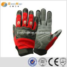 microfiber gloves red sport gloves for motorbike