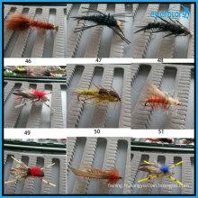 Tous les types de mouches populaires faites à la main pour pêcheur professionnel