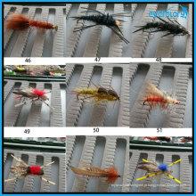 Todos os tipos de moscas populares artesanais para pescador profissional