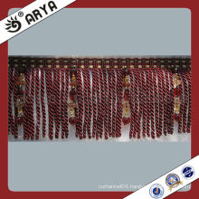 China Cheap Long Polyester Tassel Fringe Sofa Fringe Bullion Trimming