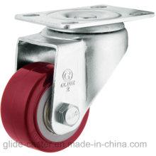 Roulette en polyuréthane à usage moyen (rouge) (surface plate) (G2202)