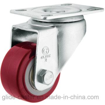 Medium Duty PU Caster (Red) (Flat Surface) (G2202)