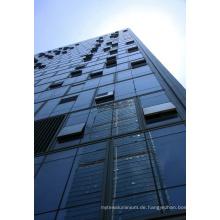Moderne gehärtetes Glas Vorhang Wand Struktur Gebäude