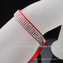 2014 Fashion vintage hollywood bracelet ribbon wholesale rhinestone bracelet
