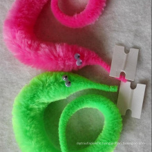 Factory sale colorful 22cm fuzzy magic worm for educational toys