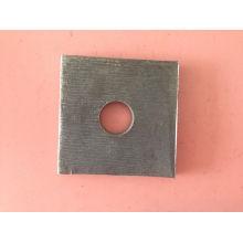 Construcción de madera plana cuadrada lavadora / placa impermeable
