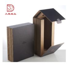 Caja de vino de 2 botellas de papel grueso creativo de diseño de alta calidad superior