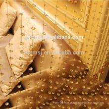 Venda quente de cristal em forma de onda beads cortina âmbar para decoração de casa Eco-friendly