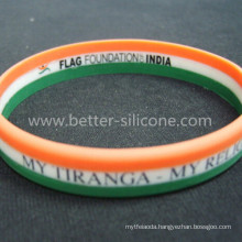 Personalized Colorful Striped Silicone Bracelet
