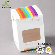 Paper Watch Gift Box with Clear Window