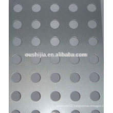 Heavy machinery protection perforated metal