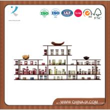 Affichage au détail en bois de 9 'de large de 2 niveaux