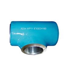 T de redução WP12 / WP11 / WP22 / WP5 do aço de liga de alta pressão