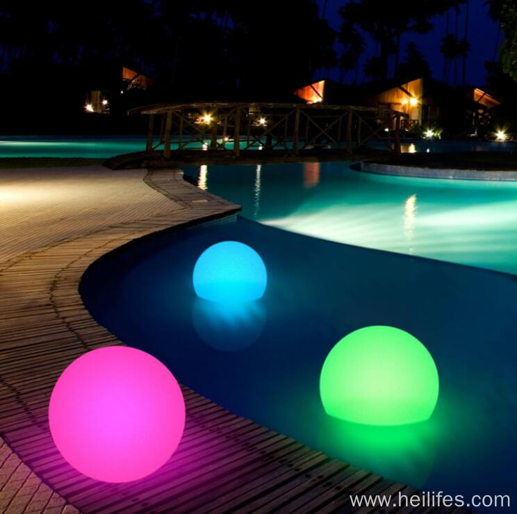 12 inch Floating LED Pool Glow Ball Outdoor Decor