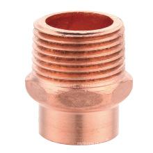 Conexão de tubulação de cobre, J9023 Adaptador macho FTGXM, m / f adaptador, UPC, NSF SABS, WRAS aprovado,