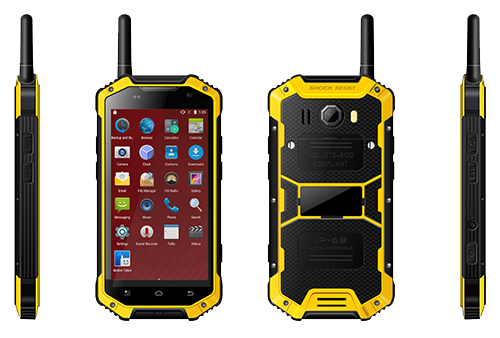 IP68 Shock-proof Rugged Walkie Talkie Handset