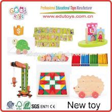Nuevos juguetes del OEM de la fábrica para los cabritos, juguetes de madera de la inteligencia nuevos, juguetes educativos de madera nuevos para los cabritos