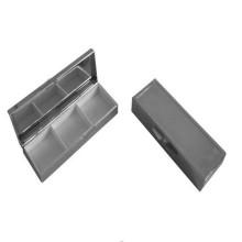 Прямоугольник Серебряный металлический ящик для таблеток (BOX-09)