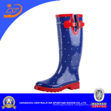 Fashion Ladies Knee High Rubber Rain Boots (SS-040)