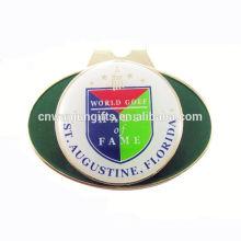 Recuerdo esmalte magnético pelota de golf marcador sombrero clip