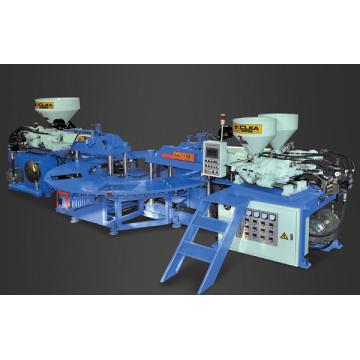 Machine supérieure de moulage par injection de PVC de trois couleurs