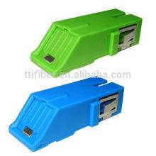 Sc Singlemode Simplex Fiber Optic Adapter with Shutter