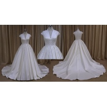 Satin A-Line Bridal Gowns Dresses