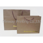 (Shopping Bag) Brown Kraft Paper Bag with Handle Packaging for Cloth