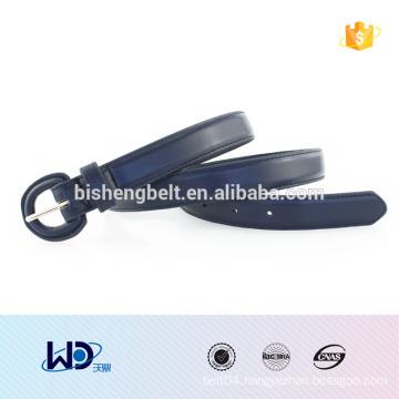 2016 handmade skinny hip PU belt for lady