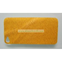 Customized Fur Leather Case Cover for iPhone 5 5s (HK-FL1259)