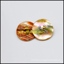Abalone Shell botón con mango metal