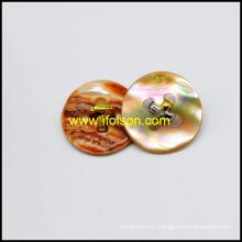 Ormeau Shell Button avec tige métallique