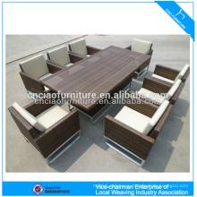 Роскошная напольная мебель элегантный ротанга патио wicker Обедая Таблица и стул (CF608)