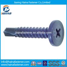 Fournisseur en Chine Meilleur prix en stock Corbon Steel Cross Recess Pancake Head Screw avec Zinc plaqué / Teflon / Docromet Surface