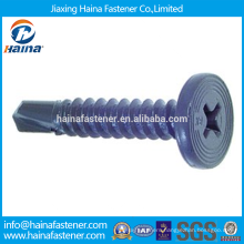 China Supplier Best Price In Stock Corbon Steel Cross Recess Pancake Head Screw With Zinc Plated/Teflon/Docromet Surface