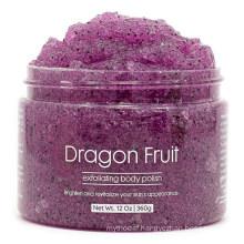Wholesale Natural Dragon Fruit Jelly Exfoliating Body Scrub Polish