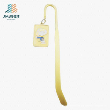 High Quality 14.5*2.5cm Alloy Custom Gold Bookmark for Promotion