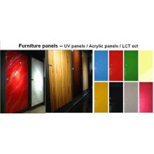 Foshan fabricant panneau UV MDF pour l'utilisation de la porte du cabinet de cuisine