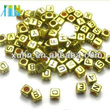 Alibaba website jóias de ouro alfabeto letra cubo contas