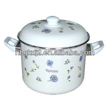 enamel cooking pot with double bakelite handle