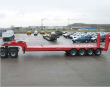 80 trak semi trailer loader rendah Tan