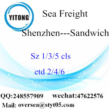 Shenzhen Port LCL Consolidation To Sandwich