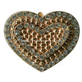 Heart Design Rhinestone Metal Buckle Wholesale; Footwear Jewelry