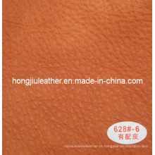 Couro de vaca imitado usado no sofá grande estilo (Hongjiu-628 #)