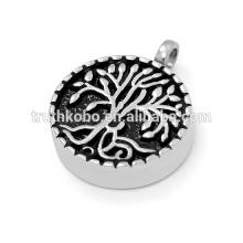 Colgante de acero inoxidable de diseño de moda para cenizas de cremación en joyería urna uk collar