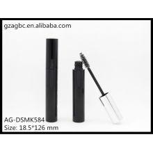 Glamouroso & vazio plástico redondo tubo de rímel AG-DSMK584, embalagens de cosméticos do AGPM, cores/logotipo personalizado